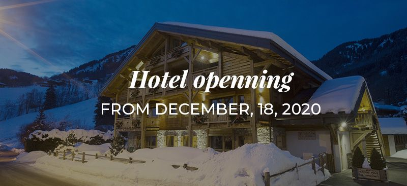 Hotel openning from December, 18, 2020
